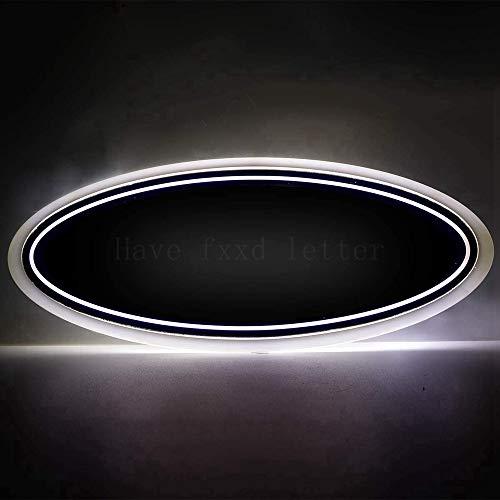 Illuminated LED Light Car Front Grille Grill Emblem Light Or Rear Tailgate Emblem Light 9'X3.5' For For 04-14 F150 F250 F350, 11-14 Edge, 11-16 Explorer, 06-11 Ranger (White)