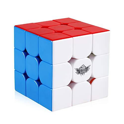 Coogam Chicos ciclones 3x3 Cubo de Velocidad magnética sin Etiqueta 3x3x3 Magic Puzzle Toy (versión FeiJue M)