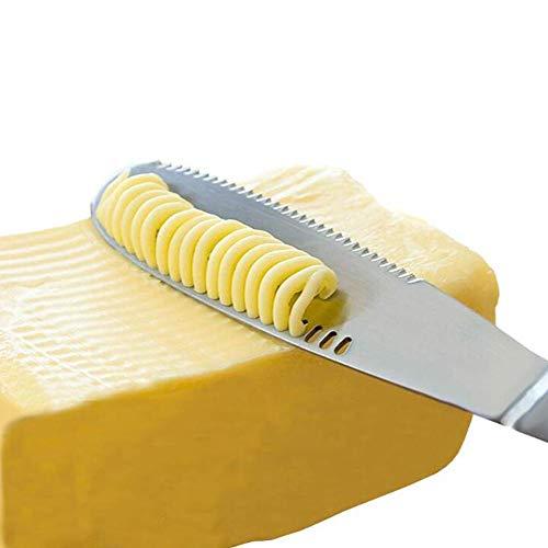 Neckip Edelstahl-Butterstreichmesser - 3-in-1-Küchenhelfer, Lockenwickler, Schneidemaschine, Rasier- und Butterreibe