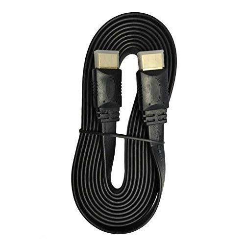 Super High Speed Premium Flachnudel HDMI-kompatibles Kabel Highspeed für HDMI-kompatibles 3D-DVD-HDTV-Kabel von Stecker zu Stecker (schwarz 3M)