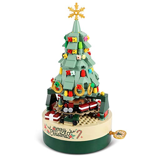 AOKESI Christmas Tree Building Kits for Kids - DIY Building Block Music Box, Educational Learning Science Building for 8+ Year Old Kids Boys Girls