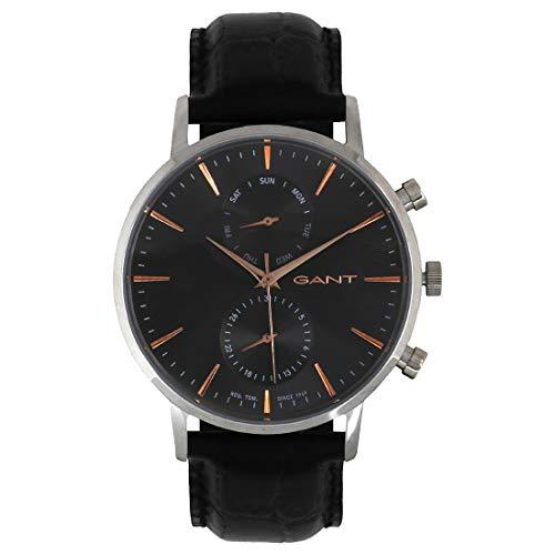 GANT TIME Herren Analog Quarz Uhr mit Leder Armband W11202