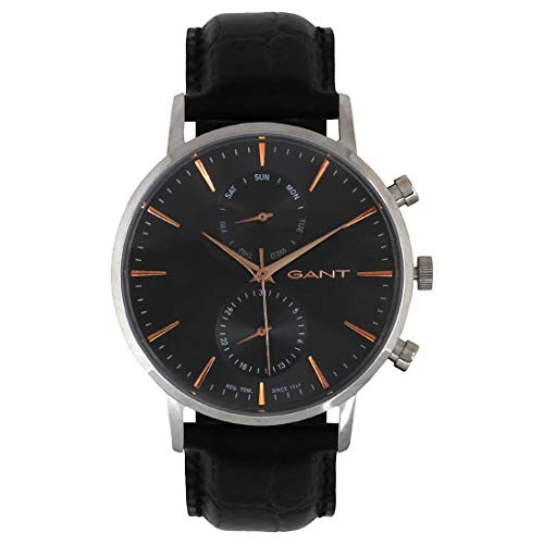 Tendedero Time Hombre-Reloj Park Hill Day-Date analógico de Cuarzo Cuero W11202