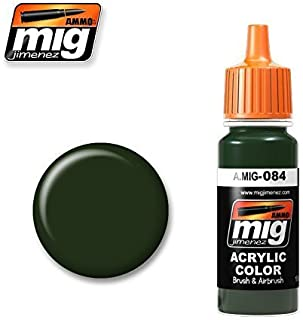 Ammo of Mig Jimenez Acrylic Color NATO Green 17ml #0084