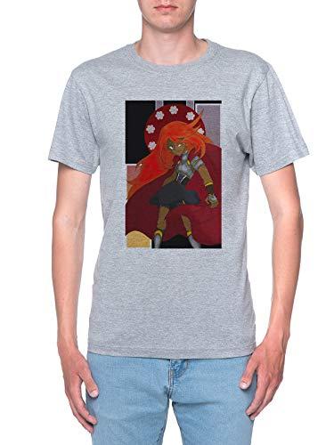 Delavi Fénix Guerrero Camiseta Hombre Gris T-Shirt Men's Grey