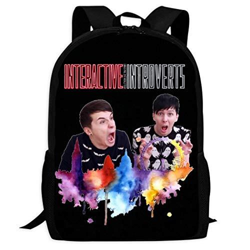 Fashion Kids Schoolbags Book_Dan_and_Phil Backpack For School Girls Boys Daypacks Rucksack Zipper