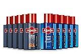 Alpecin Coffein-Shampoo C1, 5 x 75ml + Coffein-Liquid, 5 x 75 ml - Beugt erblich bedingtem Haarausfall vor   Für fühlbar mehr Haar   Praktische Reisegröße fürs Flugzeug
