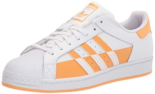 adidas Originals Superstar, Zapatillas para Hombre, Blanco Negro Naranja Hazy, 36 2/3 EU