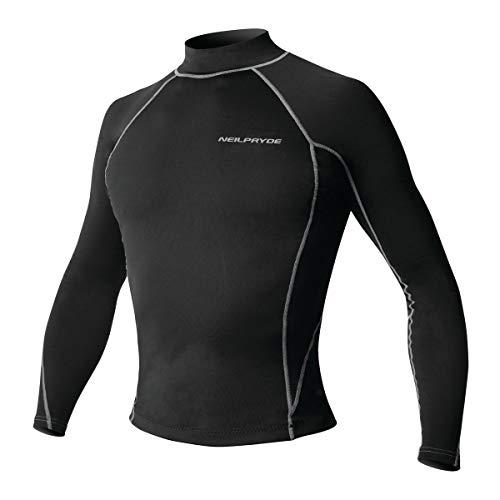 Neil Pryde Thermalte - Camiseta de manga larga, color C1 Black, tamaño 52 L