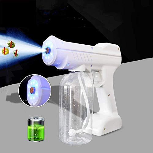 Byakns Pistola de desinfección portátil Pulsador de niebla electrostática, 800 ml Máquina de niebla térmica de 800 ml Nano Spray Pistola para el vehículo de oficina para el hogar interior o exterior -
