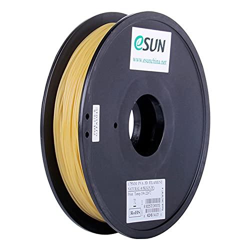 eSUN Filamento PVA Solubile in Acqua 2.85mm, Stampante 3D Filamento PVA, Precisione Dimensionale +/- 0.05mm, Bobina da 0.5KG (1.1 LBS) Materiali di Stampa 3D per Stampante 3D, Naturale