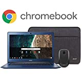 Acer Chromebook 14, Intel Celeron N3160, 14' Full HD Display, 4GB LPDDR3, 32GB eMMC, 802.11ac WiFi, Protective Sleeve, Wireless Mouse, CB3-431-C539