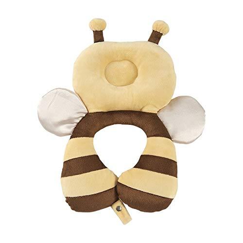 weichuang U-shaped pillow Cartoon Plush Anti-fall Travel Baby Toddler Headrest Neck Pillow U Shape Car Newborn Head Protector Safety Pad Cushion Pillows U-shaped pillow (Color : Bee)