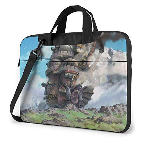 Hdadwy Anime Howl's Moving Castle Laptop Sleeve Laptop Bag Tablet Briefcase Ultraportable Protective Handbag Oxford Cloth-for MacBook Pro/MacBook Air/Notebook Computer 15.6 Inch