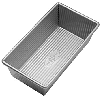 USA Pan Bakeware Aluminized Steel Loaf Pan 1 Pound Silver