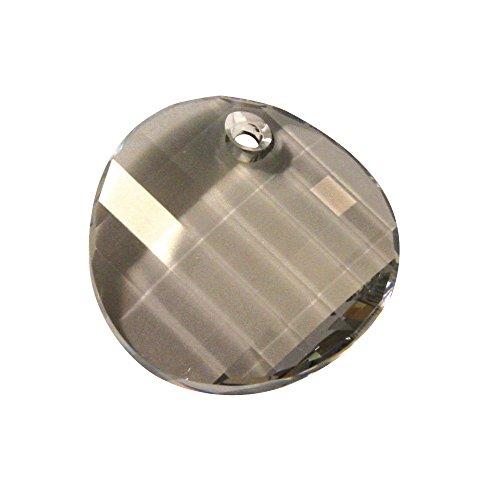 RAYHER HOBBY 14376861 Swarovski-Cristal Tallado-Colgante, 28 mm, Lata 1 pcs, Twist, Silver Shadow