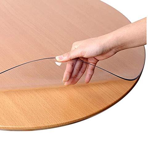 Mantel transparente de 1,5 mm de plástico transparente antideslizante para mesa de mesa de PVC, impermeable, protector de escritorio para comedor, café, mesa de 1,5 mm - 120 x 120 x 120 x 47 pulgadas