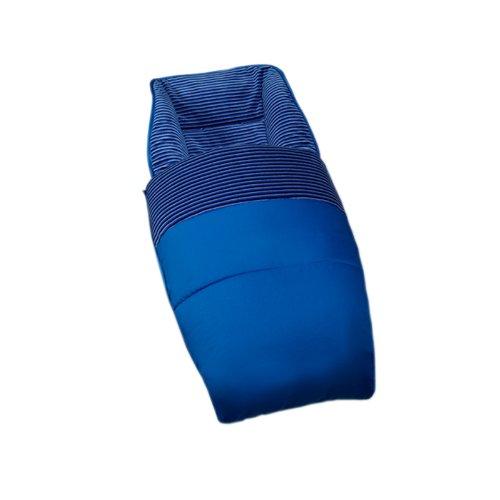 Bolin Bolon Chancelière en tissu doublé de velour - Bleu foncé - 94x48