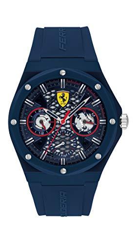 Scuderia Ferrari Reloj Cosa análoga para de los Hombres de Cuarzo con Correa en Silicona 830788