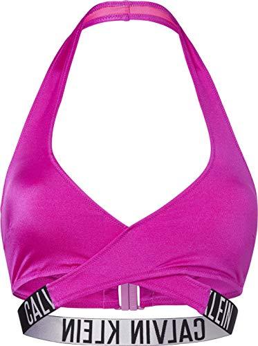 Calvin Klein Crossover Bralette-RP Parte Superiore del Bikini, Estate Fucsia, XS Donna
