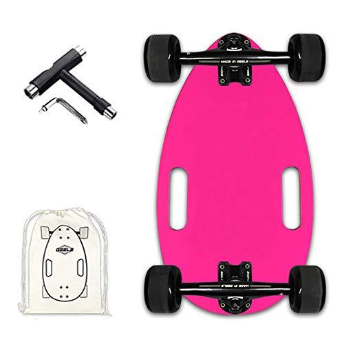 WRISCG Mini Longboard Cruiser Skateboards Scarabée, Planche à roulettes complète léger 45×25cm, avec Sac à Dos + T-Tool, 7 Plis d'érable Skateboard, Roulement ABEC-11, pour débutants et Pro,A