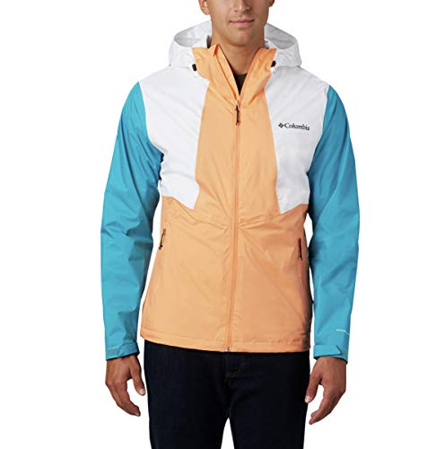 Columbia Men's Inner Limits Ii Rain Jacket, Bright Nectar/White/Clear Water, Medium