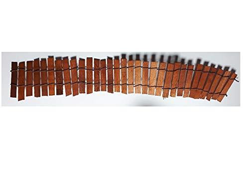 1 puente de madera y hierro moldeable de 32 cm de largo aproximadamente. También se puede utilizar como escalera para pastores de pesebre artesanales.