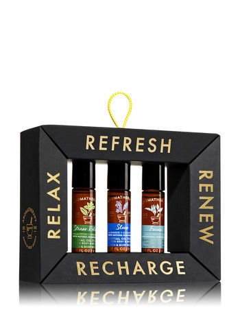 Bath & Body Works Aromatherapy ESSENTIAL OIL THERAPY Relax & Recharge Gift Set
