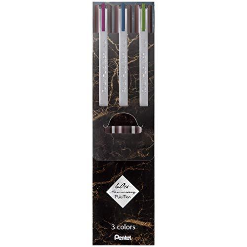 ぺんてる 水性ペン プラマン 限定3色セット ブラウン JM20LT-3