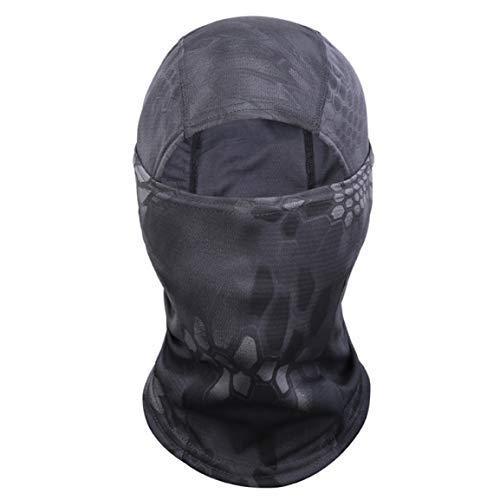 htrdjhrjy Profesional 6 IN 1 Camuflaje Ninja Máscara Equitación Máscara Camuflaje Máscara Resistente Al Viento Polvo Máscara Arena Turbante Pasamontañas Sombrero - H04