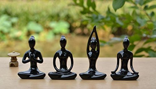 Meditation Yoga Pose Ceramic Figure Set