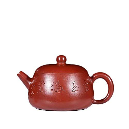 ADSE Original Mine Purple Sand Pot Dahongpao Jade Bowl Teapot Gift Set Tea Set Tea Maker Sand Pot (Color : Big pink Pouch)