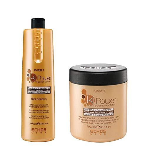 Kit Ki-Power EchosLine - Shampoo (Phase 1) 1000 ml + Maschera (Phase 2) 1000 ml