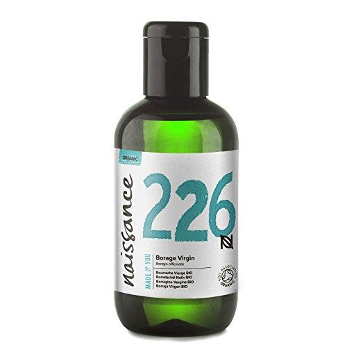 Naissance Aceite Vegetal de Borraja BIO 100ml - 100% puro, prensado en...