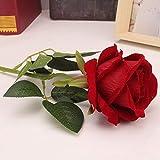 Koperras 1 Pc Fleurs Artificielles Fleur Plastique Fausse Fleur Roses en Soie Bouquet Mariage pour FêTe De Jardin à La Maison DéCor MatéRiel De Latex Vrai Toucher Simulation Fausse Fleur