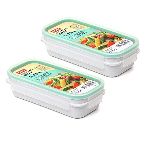 TATAY Urban Food - Recambios 2 Tapers Herméticos OPAK Rectangulares con Junta de Silicona, Tamaño 2 x 0.75L