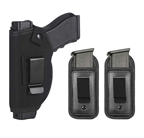 TACwolf Universal Right Left IWB OWB Holster Magazine Pouch for Inside Concealed Carry Holster for Single Double Stack Mags S&W M&P Shield G17 19 23 25 26 27 29 30 32 33 38 42 43 Springfield XD X