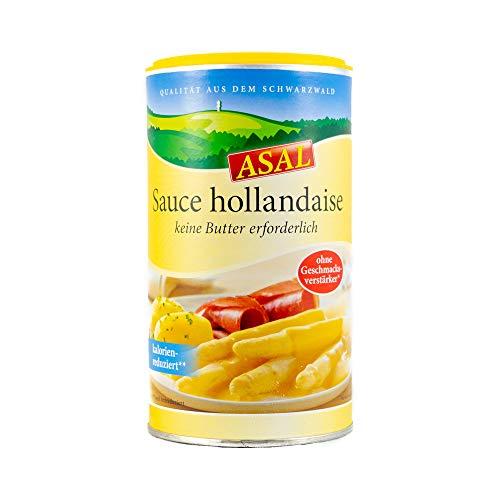 Sauce Hollandaise kalorienreduziert ohne Geschmacksverstärker 390g für 2,5 Liter – leckere, fettreduzierte und zart-cremige Soße für Spargel und Gemüse, glutenfrei, bis zu 90% weniger Fett und 80% weniger Kohlenhydrate, kinderleichte Zubereitung mit Wasser, keine zusätzliche Butter notwendig, ohne Palmöl, kein Palmfett
