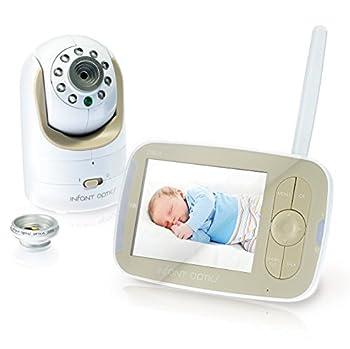 DXR-8farbiger Video-Baby-Monitor mit austauschbarer optischer Linse in weiß-beige von Infant Optics