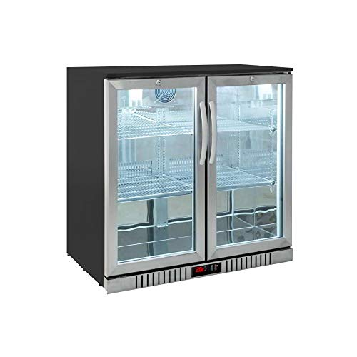 Procool Residential 2-door Glass Front Stainless Steel Back Bar Cooler; Undercounter 33' Height