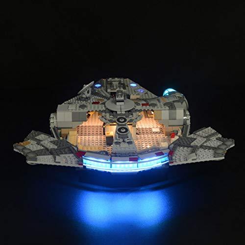 K9CK Luces LED para Halcón Milenario Lego Star Wars 75257, Kit de Iluminación Luz Compatible con Bloques de construcción (NO Incluido en el Modelo)