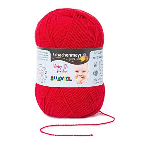 Schachenmayr Baby Smiles Suavel 9814876-01030 red Handstrickgarn, Häkelgarn, Babygarn