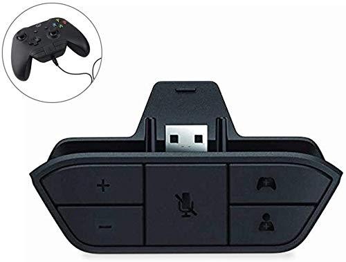 Leegoal Adaptador universal para auriculares estéreo Xbox One,  adaptador de auriculares para mando Xbox One
