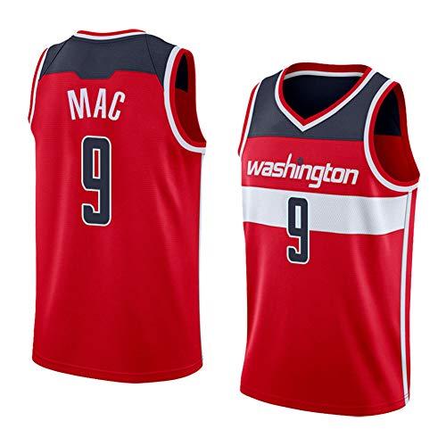 Z/A Washington Wizards Mac # 9 Ropa De Baloncesto Jersey Men's Sportswear Entrenamiento Deportivo Sudadera Suelta Chaleco De Manga Corta Top Camiseta,M