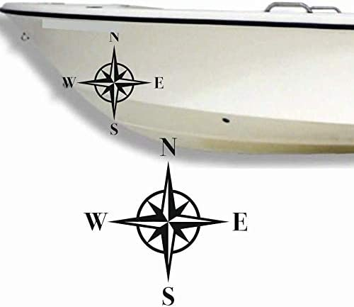 2 X Kompass Aufkleber Aus Hochleistungsfolie Viele Farben Zur Auswahl Angler Angelboot Sticker Boot Boote Beschriftung Bug Heck Fische Angeln Schlauchboot Nautic See Fischer Bootsbeschriftung Bootbeschriftung Fischen Sticker Auto