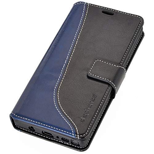 elephones Schutzhülle kompatibel mit Samsung Galaxy Note 9 Hülle Handyhülle Handy-Tasche Wallet Case Cover Schwarz