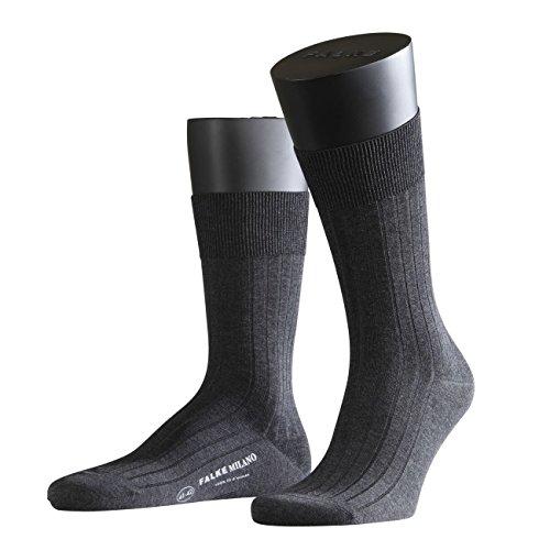 FALKE City Herren Socken Milano 2er Pack, Größe:43/44;Farbe:Anthracite Melange (3190)