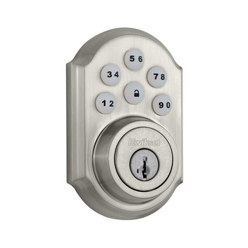 Our #2 Pick is the Kwikset 909 SmartCode Electronic Deadbolt featuring SmartKey