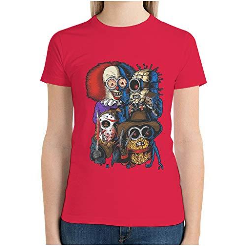 Camisetas clásicas de colores para mujer con diseño de película de terror de Halloween