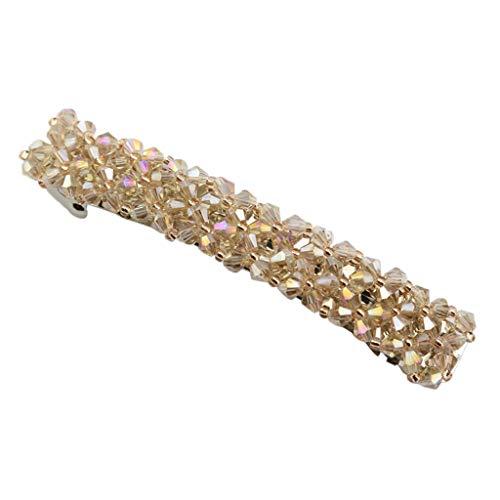 Metall Haarspangen Haarclips Haar Barrette Klemme Spange Dekor für Tägliche Party Hairstyling - Champagner + Champagner
